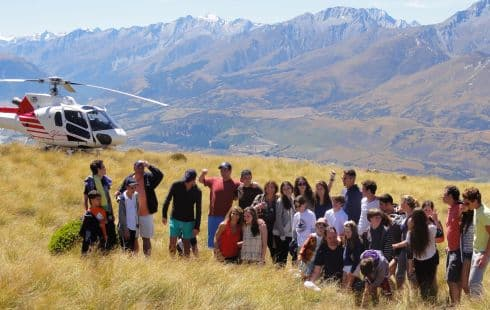 Private group on chartered helicopter trip